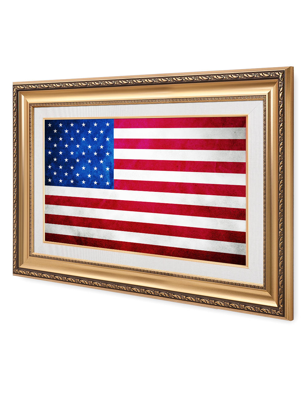 American Flag Vintage Framed Art Giclee Prints For Home