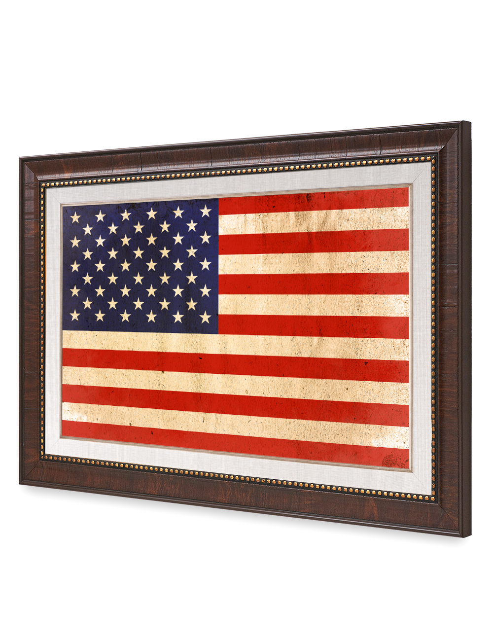 American Flag vintage framed art Giclee Prints for Home Wall Art ...