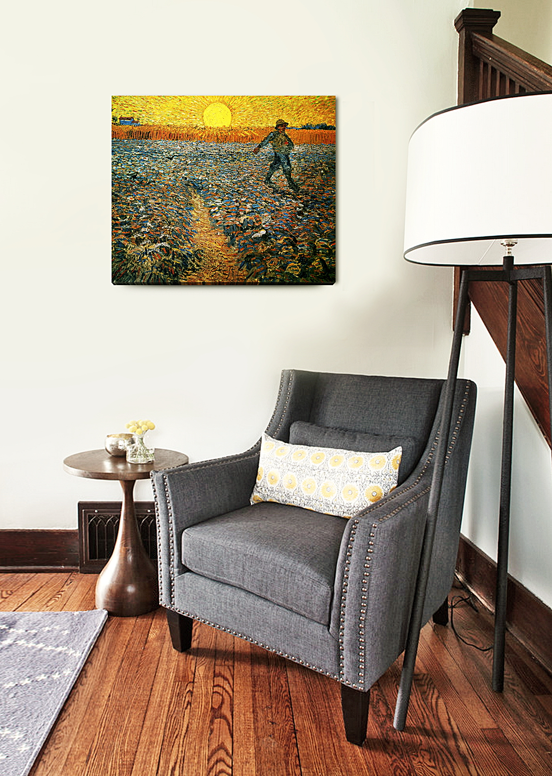 DecorArts The Sower by Van Gogh The Van Gogh Giclee Print Stretched Canvas
